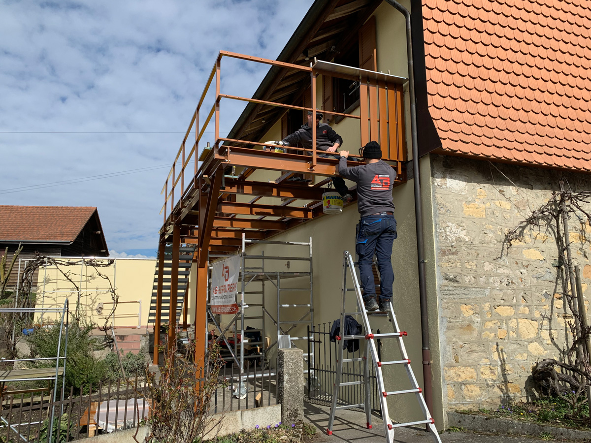 Pose en extérieur - AB SERRURERIE CONSTRUCTIONS MÉTALLIQUES SA